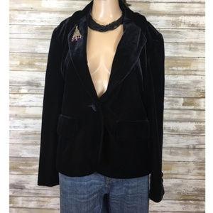 Vintage 90's Bloomingdales Black Velvet Blazer